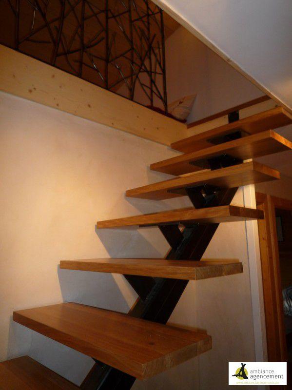 Escalier acier et bois for Agencement cuisine yverdon