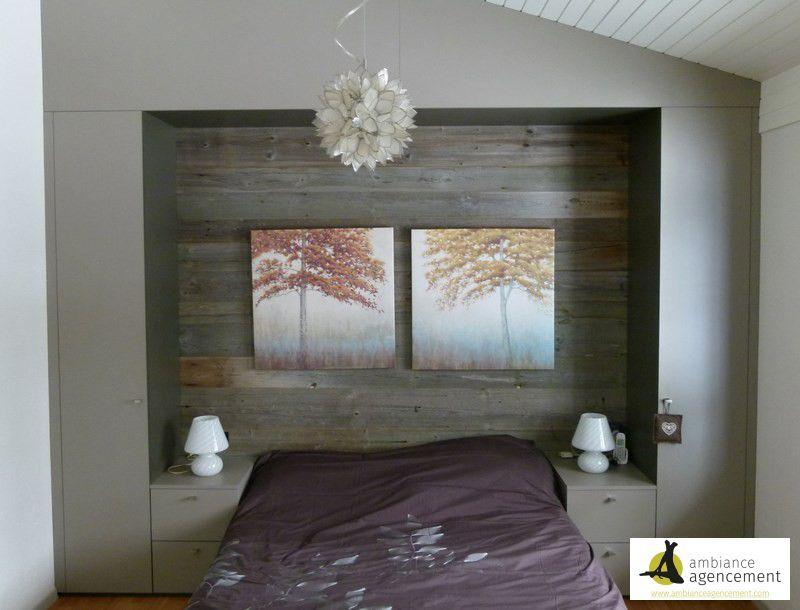 tete de lit en vieux bois. Black Bedroom Furniture Sets. Home Design Ideas
